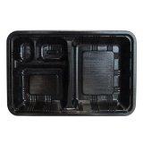 仕出し・弁当容器 LC-608黒 透明フタ付