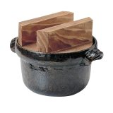 IH対応 電磁用ごはん鍋 焼杉木蓋付