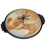 卓上鍋 大型陶板30cm 鯛蓋セット