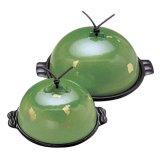 卓上鍋 高瀬陶板セット 加賀金箔(金彩・緑)