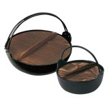 IH対応 電磁用いろり鍋 木蓋付