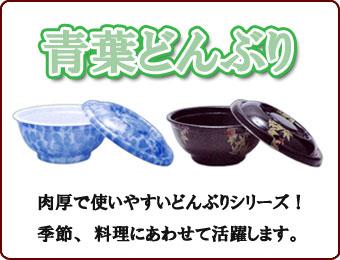 絵柄サイズ多数!肉厚で使いやすい青葉どんぶり容器