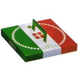 画像1: 紙製 イタリアンカラー ピザボックス