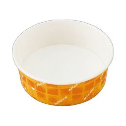 画像1: [オーブン対応 紙容器] 耐熱性コップ134径 オレンジ