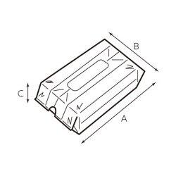 画像2: オードブル皿・寿司桶用 手提げ袋 バンバンバッグ 波柄
