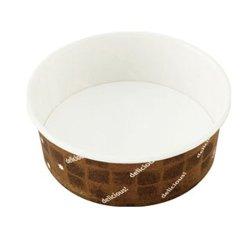 画像1: [オーブン対応 紙容器] 耐熱性コップ134径 ブラウン