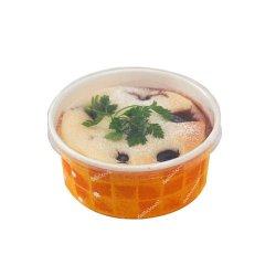 画像1: [オーブン対応 紙容器] 耐熱性コップ96径 浅型オレンジ