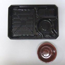 画像2: SB(冷麺) そば・うどん弁当容器 SB-25-17P(黒)