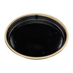 画像1: 寿司桶 新7人桶(P)V 金フチ黒 本体・透明フタセット 10枚