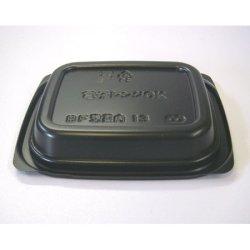 画像2: [レンジ対応] BF惣菜内13 黒 透明フタ付セット
