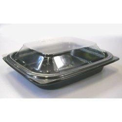 画像4: [レンジ対応] BF惣菜内13 黒 透明フタ付セット