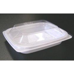 画像4: [レンジ対応] BF惣菜内13 ホワイト 透明フタ付セット
