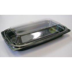 画像4: [レンジ対応] BF惣菜内17 黒 透明フタ付セット