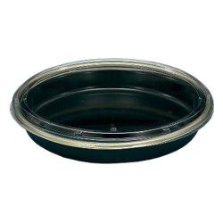 画像2: 寿司桶 新3人桶(P)V 金フチ黒 本体・透明フタセット 10枚